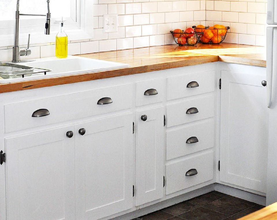 DIY Slab-to-Shaker Style Kitchen Cabinet Doors