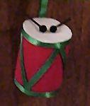 Toilet Paper Roll Drum Ornament
