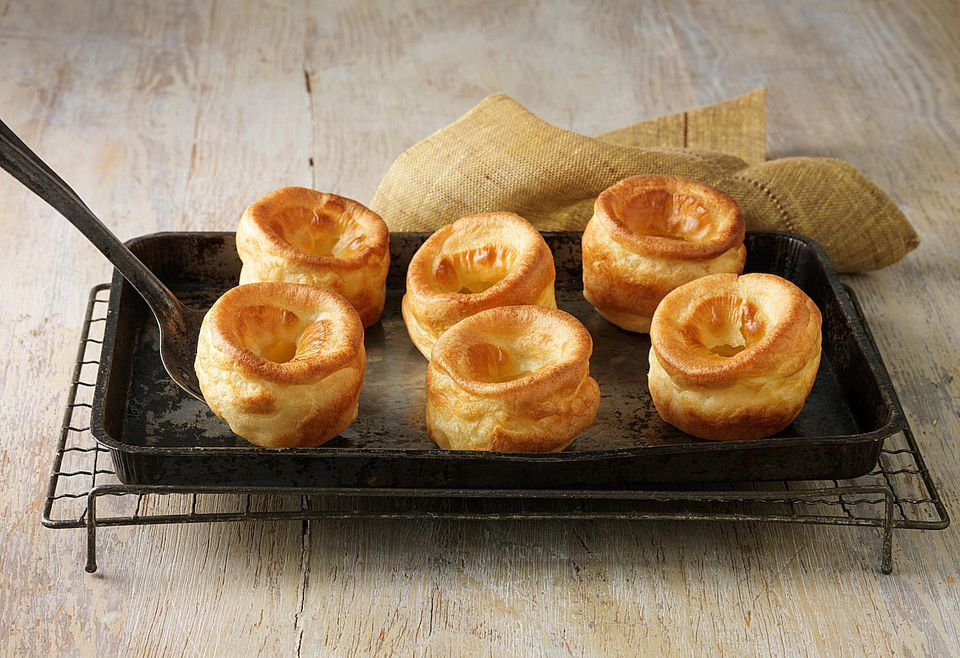 yorkshire pudding on a tray