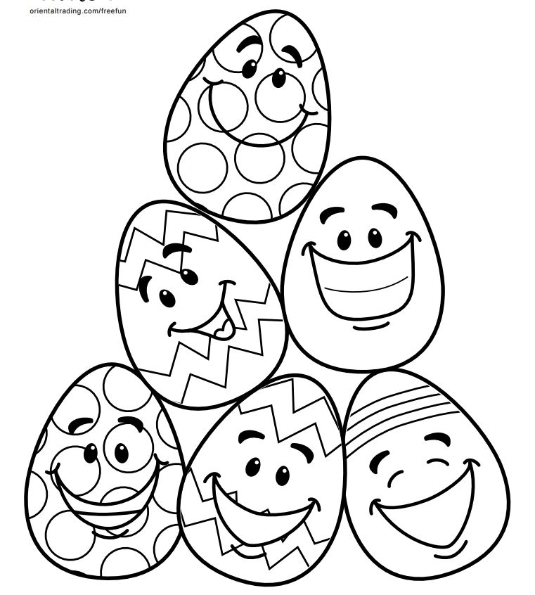 A Pile Of Smiling Easter Eggs
