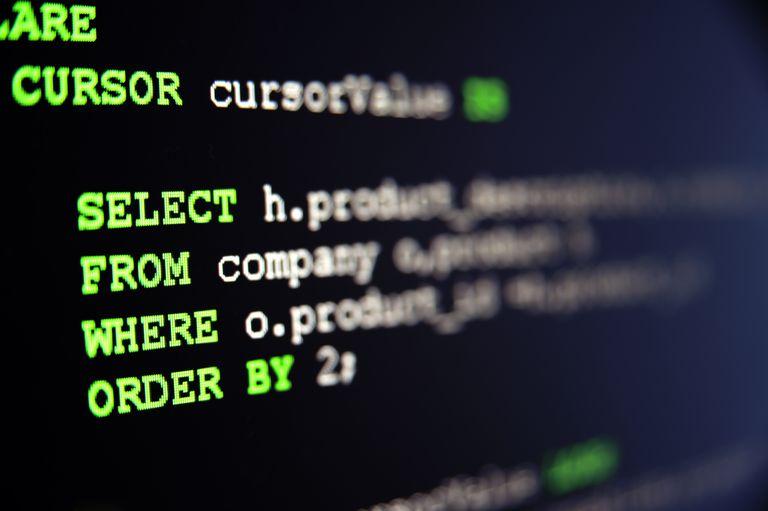 SQL code on black