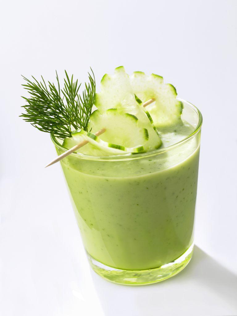 Licuado depurativo con té verde Matcha