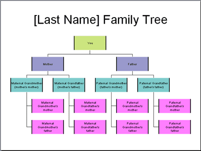Make a family tree chart in powerpoint 2003 for Interactive family tree template