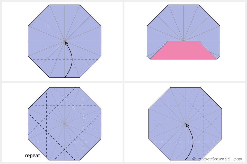 Origami Octagonal Tato Diagram 4