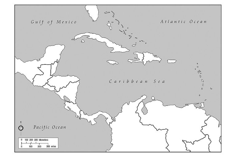 Blank Maps Of The US And Other Countries - Caribbean maps