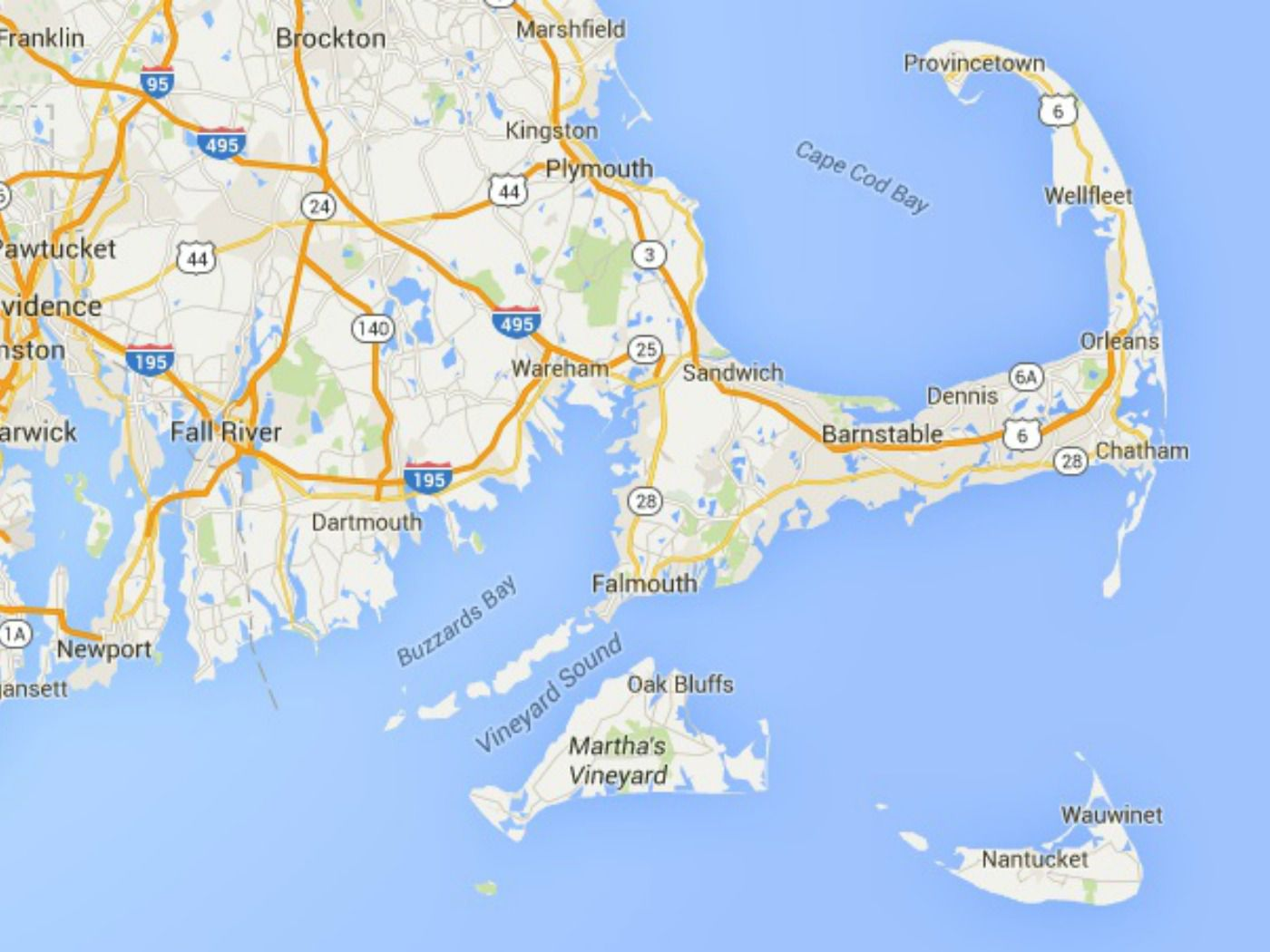 Maps Of Cape Cod Marthas Vineyard And Nantucket - Cape cod location us map