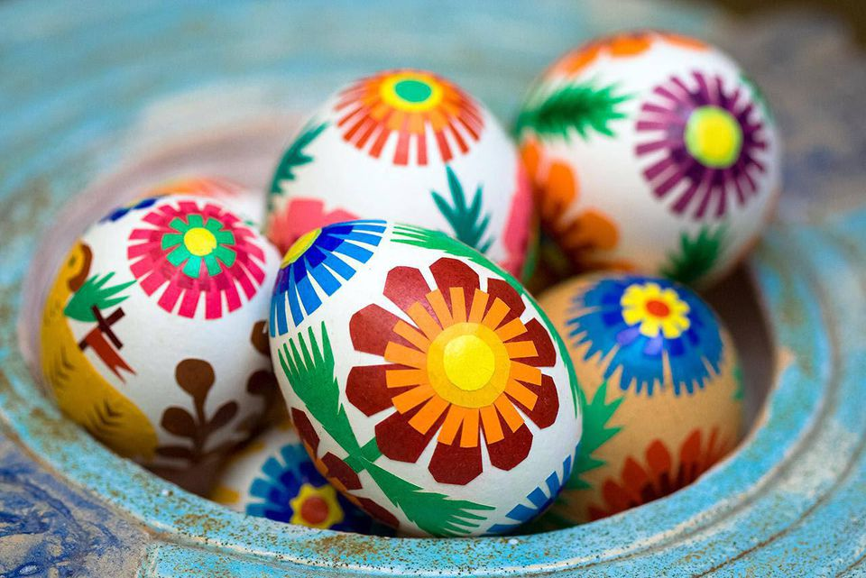Decorated eggs for Easter in Poland