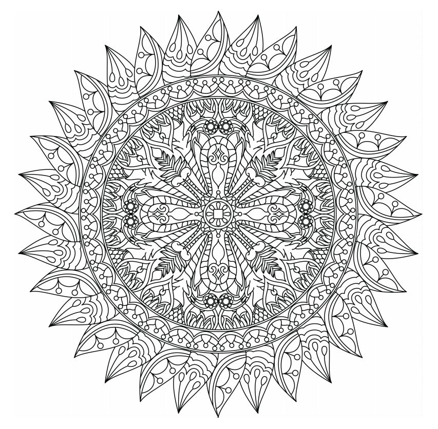 printable indian mandalas coloring pages - photo#20