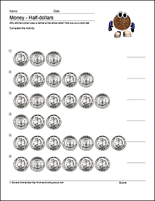 Math and Money Worksheets - Counting Dimes
