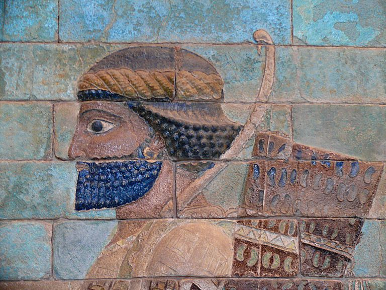 Wall relief of a Persian Immortal from Darius's Palace at Susa