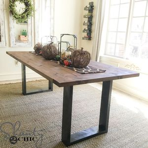 Modern Rustic DIY Dining Room Table From Shanty 2 Chic