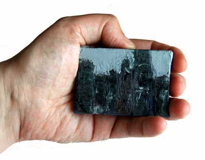 Urban abstract miniature painting