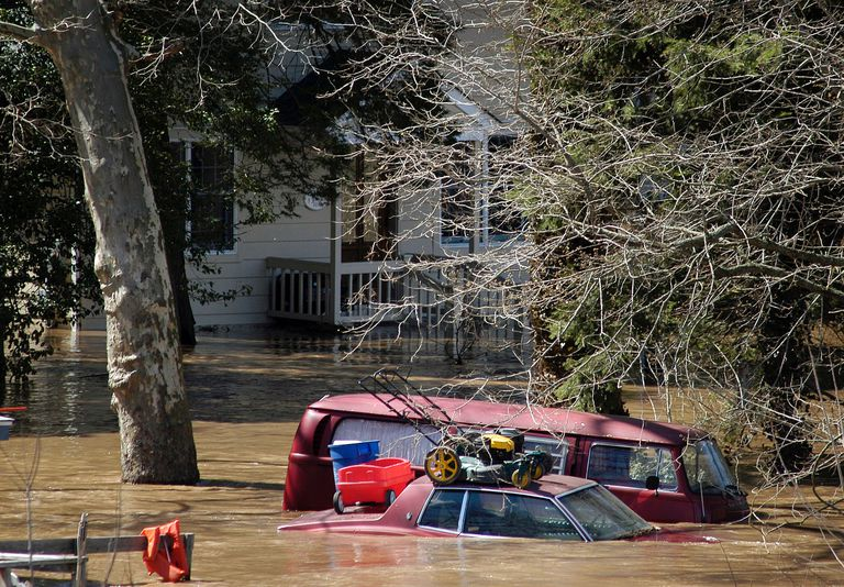 Flooding Along The Delaware River Forces Evacuations