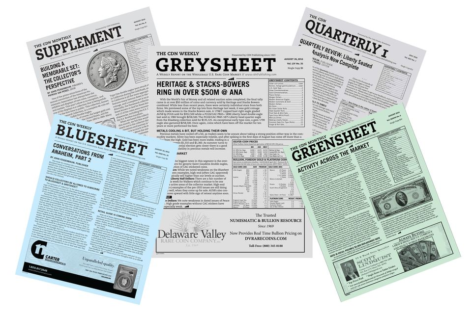 """Sample Copies of the Coin Dealer Newsletter, Also Known As """"the Greysheet"""""""