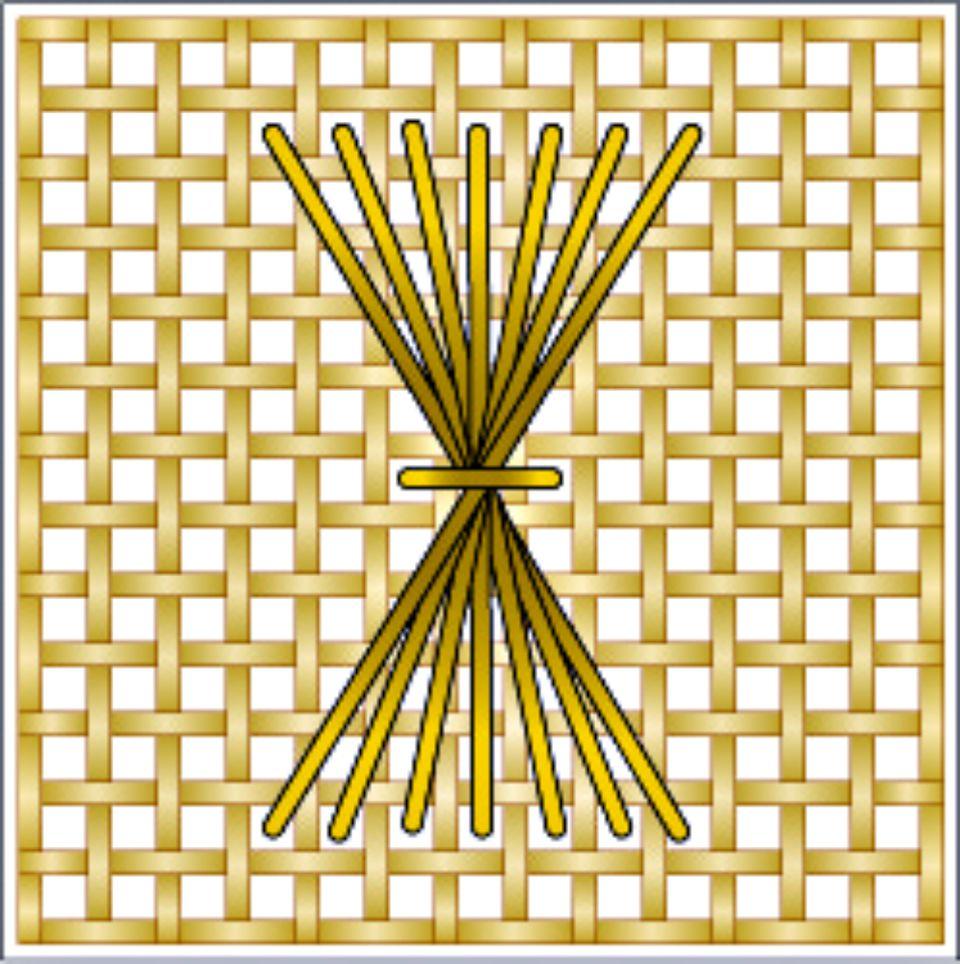 Rhodes Sheaf Needlepoint Diagram