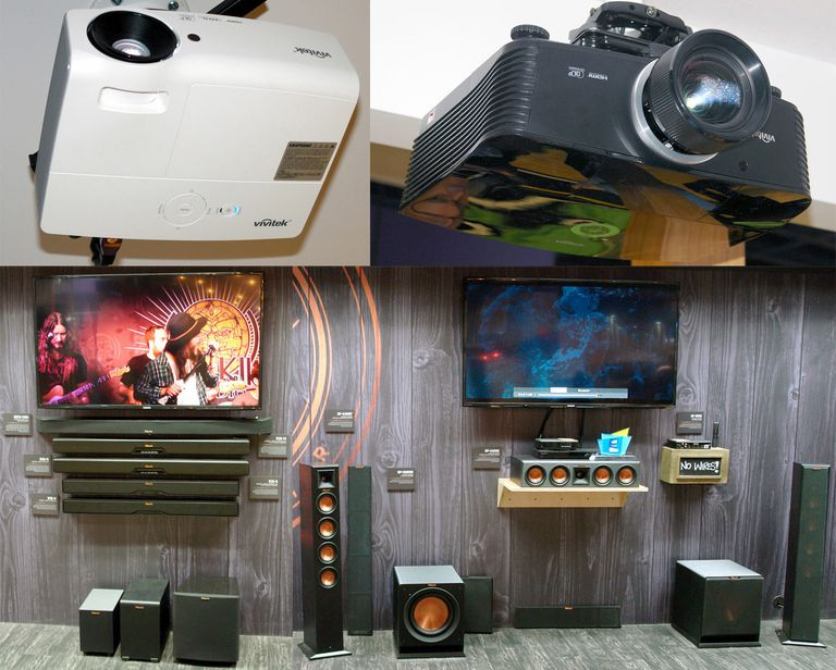 Vivitek Projectors, Klipsch Sound Bars and Wireless Home Theater Speaker Options
