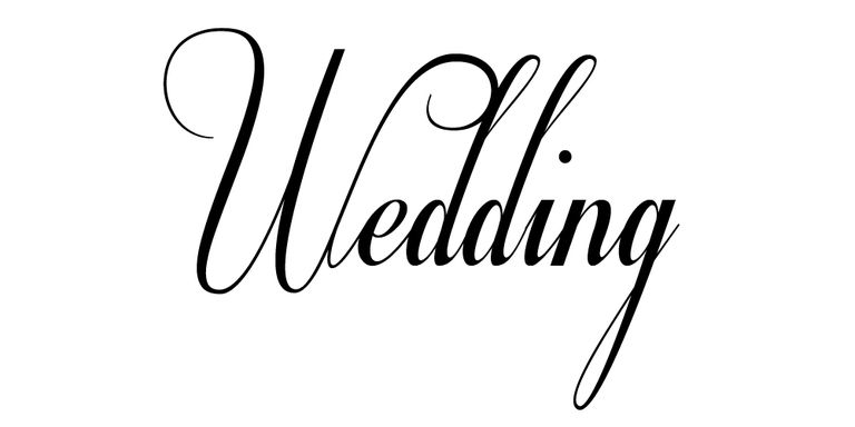 The Word Wedding In Free Font Respective
