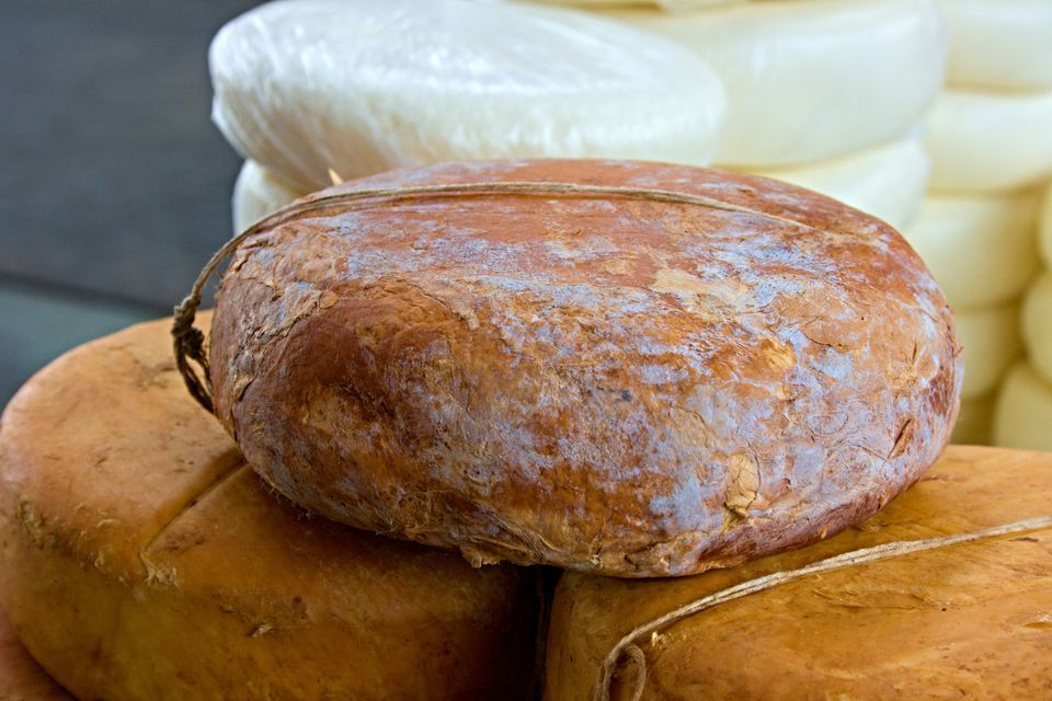 Close-Up Of Smoked Cheese