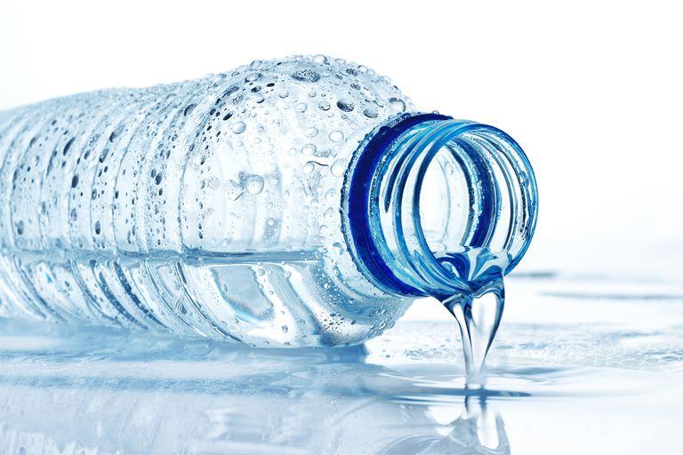 A bottle of water.
