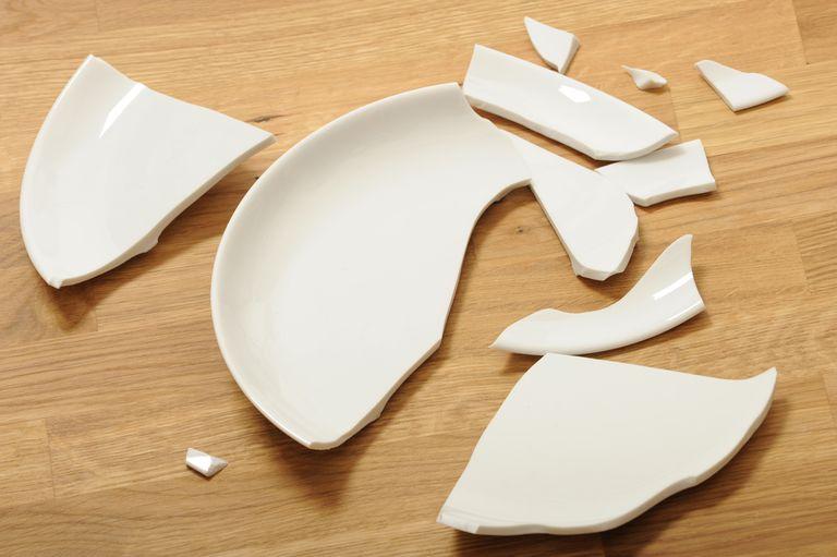 A broken plate