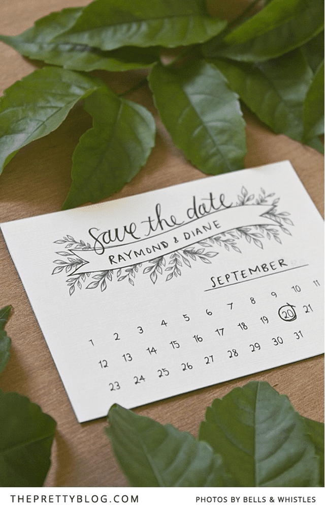 Free printable save the date templates youll love free save the date template from the pretty blog pronofoot35fo Images