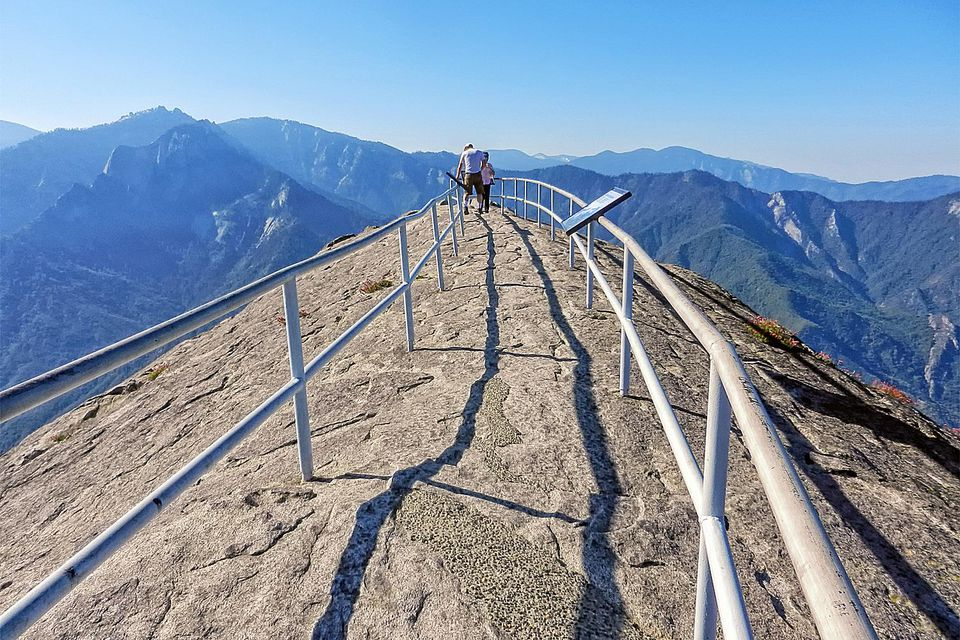 Climbing to the Top of Moro Rock