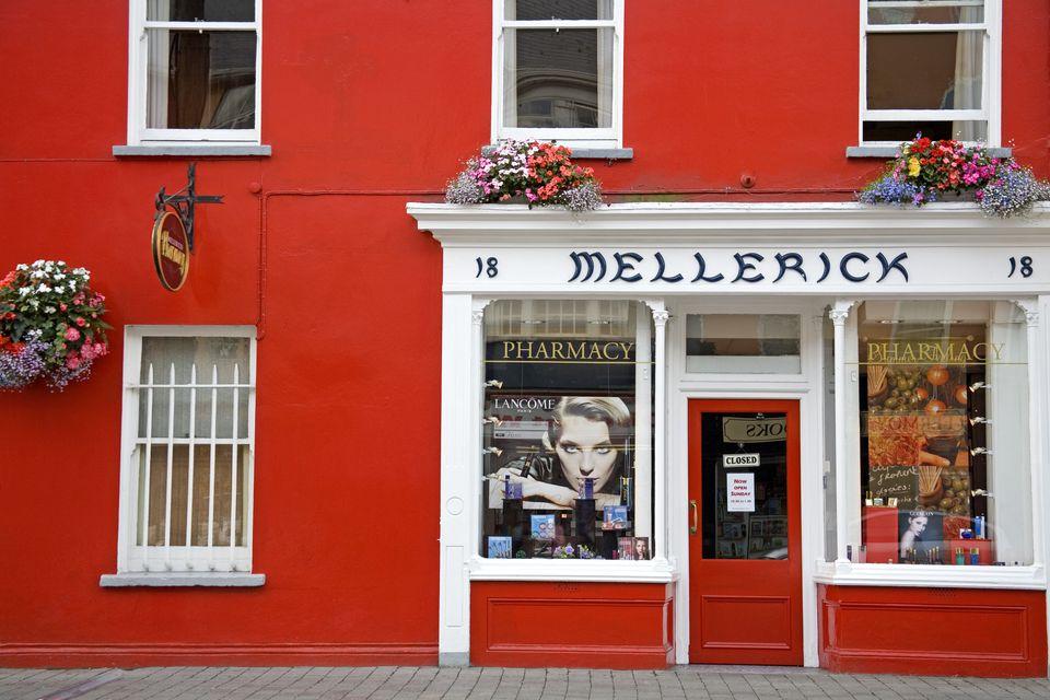 Mellerick's Pharmacy in Fermoy Town.