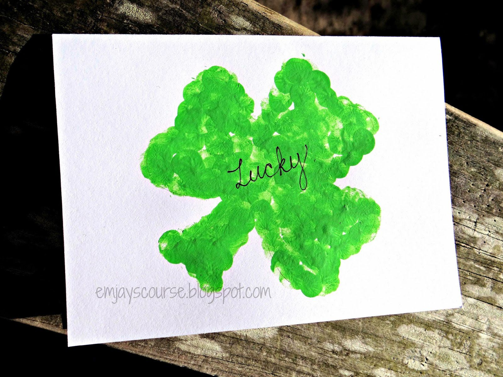 shamrock shape template for rubber stamping