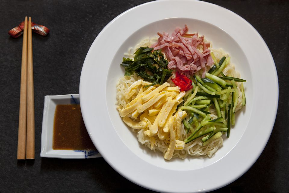 A plate of Hiyashi Chuka