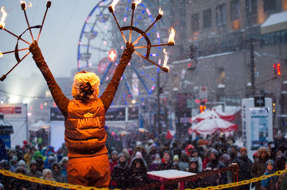 Montreal festivals in February 2017 include Montréal en Lumière, Nuit Blanche