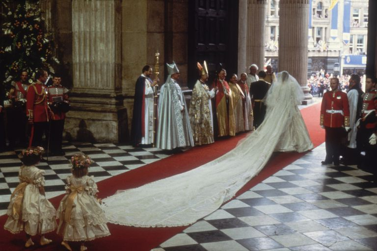 Charles and Diana at St Paul's Cathedral, London