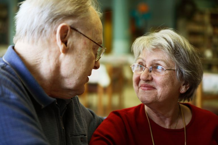 Couple discussing long-term care needs.