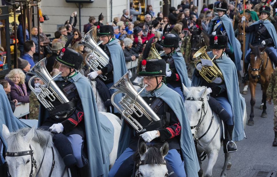 a Carnivale parade in Rome
