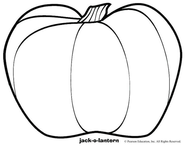jack o lantern outline printable