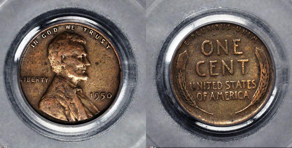 Lincoln Wheat Penny Graded Very Fine-25 (VF25)