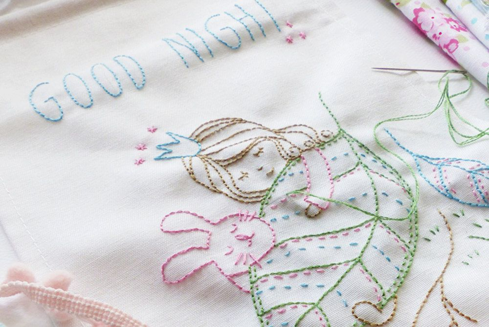 10 hand embroidery patterns for a new baby or nursery