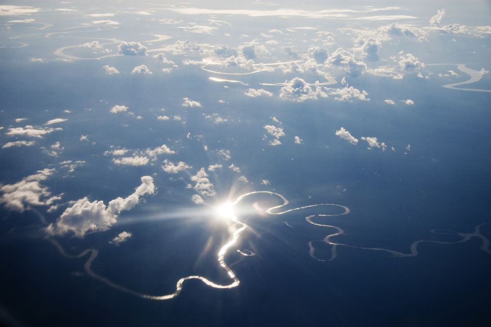 Aerial view of the Peruvian Amazon