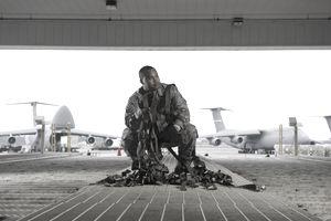 Air Force Pilot in hanger