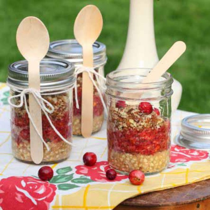 Easy healthy raw vegan dessert recipes with photos a beautiful and fresh raw food pie layered in a jar made with a buckwheat crust a cranberry and pear filling spiced with cinnamon and all spice and topped forumfinder Image collections