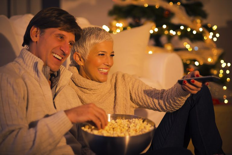 watching Christmas movie