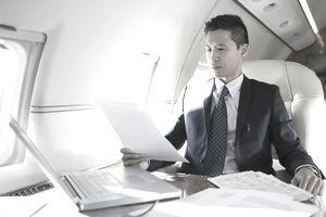 Man working on plane