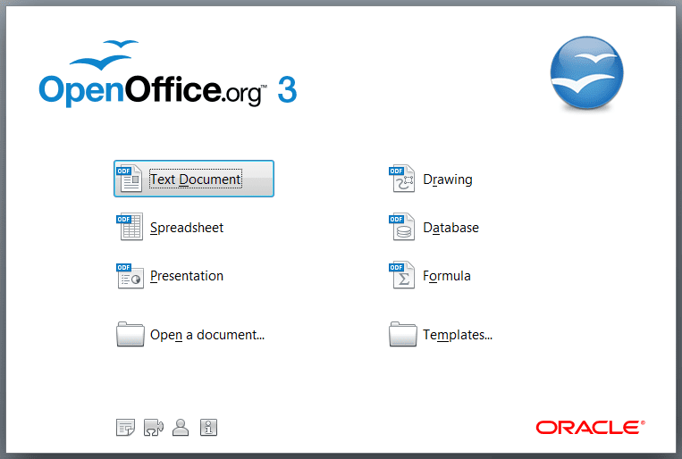 openoffice.org screen