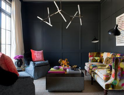Color Of Paint For Living Room. 30 Black Rooms That Are Pitch Perfect 15 Beautiful Blue