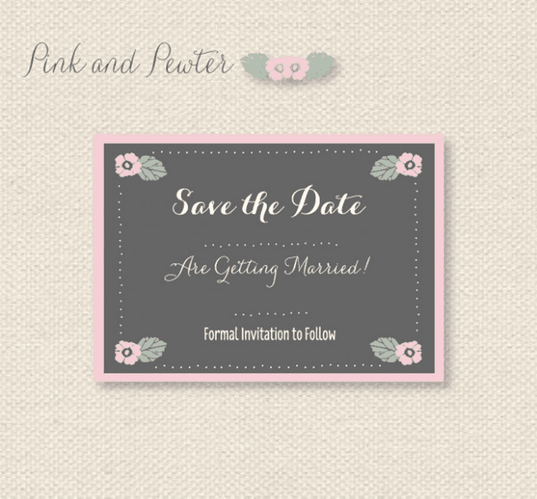Free printable save the date templates youll love pink and pewter free save the date templates from want that wedding pronofoot35fo Images