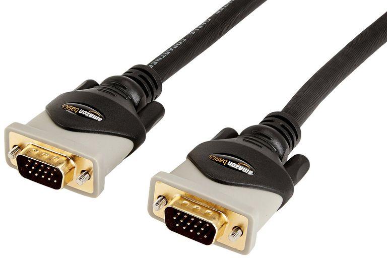 Photo of an AmazonBasics VGA cable