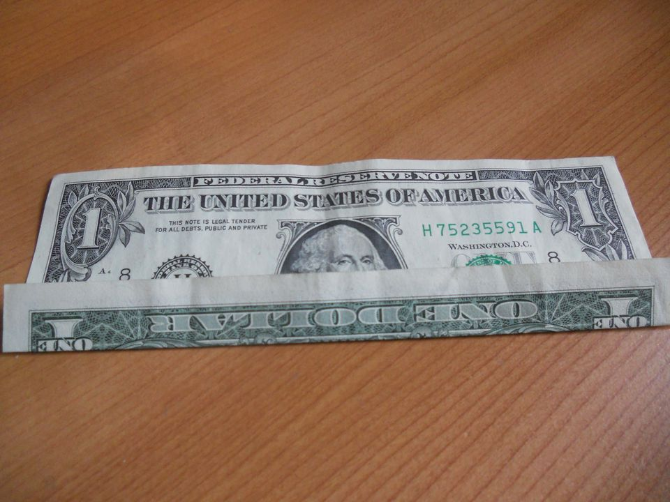 money origami wreath