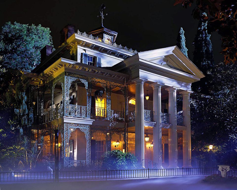 Haunted Mansion exterior at Disneyland.