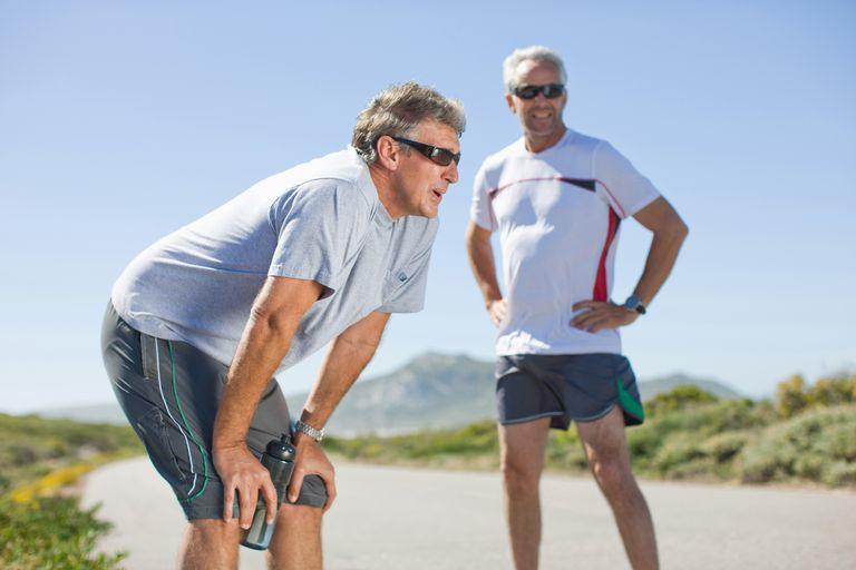 Men winded after jogging