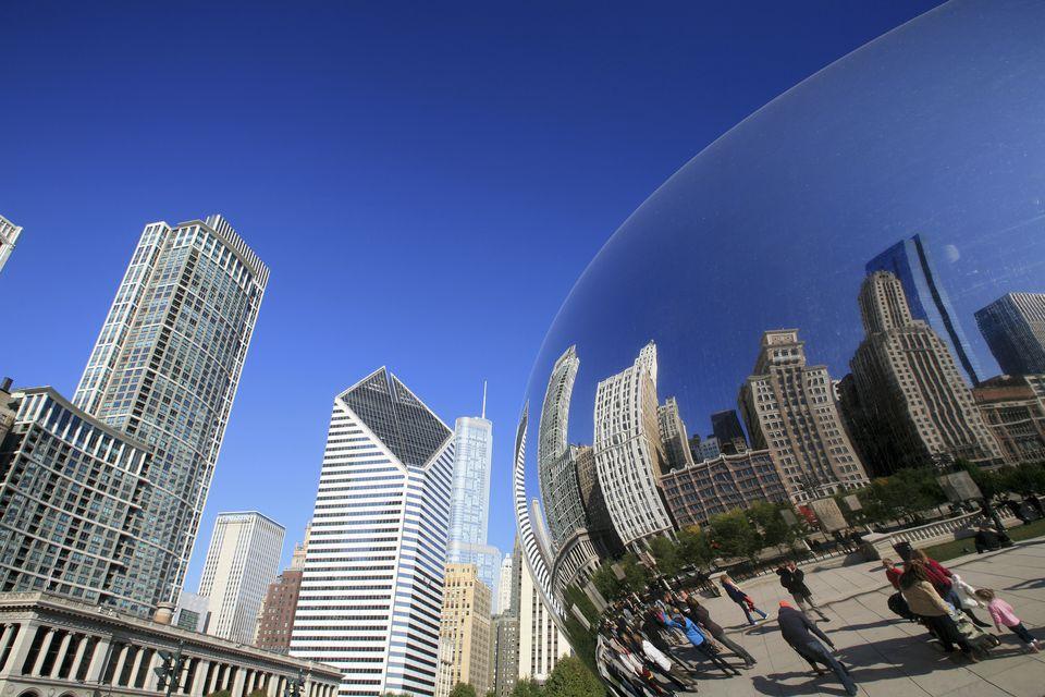 Millennium Park, Michigan Avenue skyline, Chicago