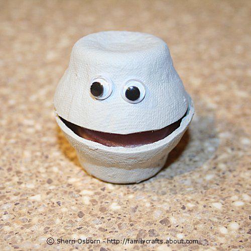 Egg Carton Oyster Craft
